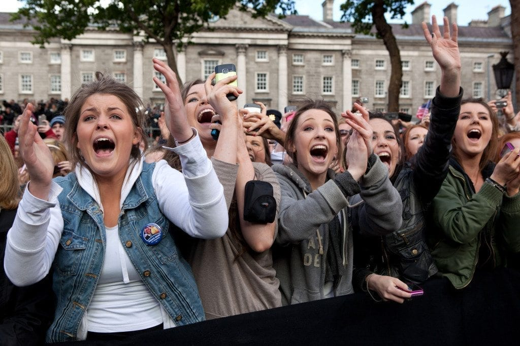 Women Cheering