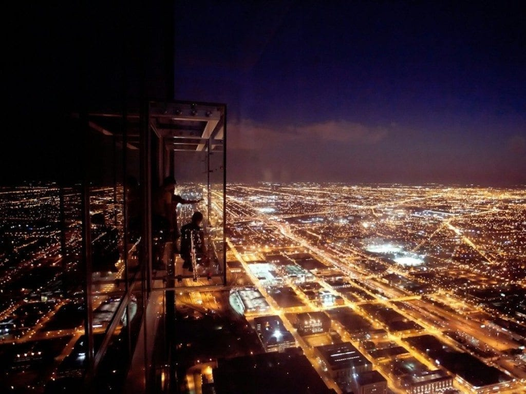 Willis Tower Ledge Night