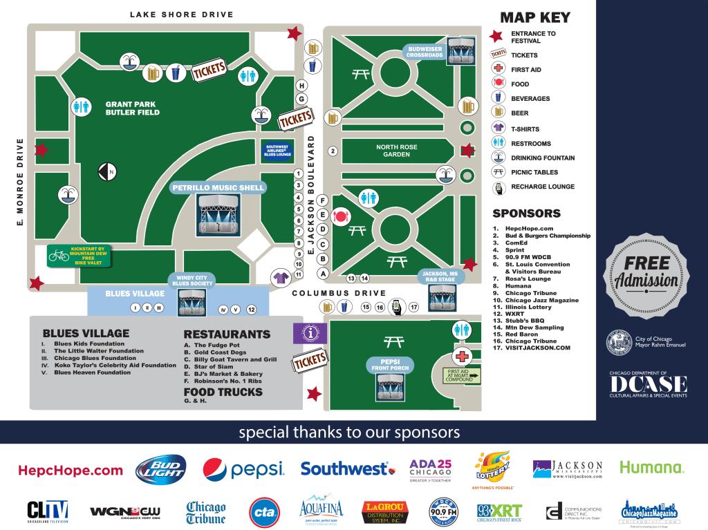 Blues Fest Map