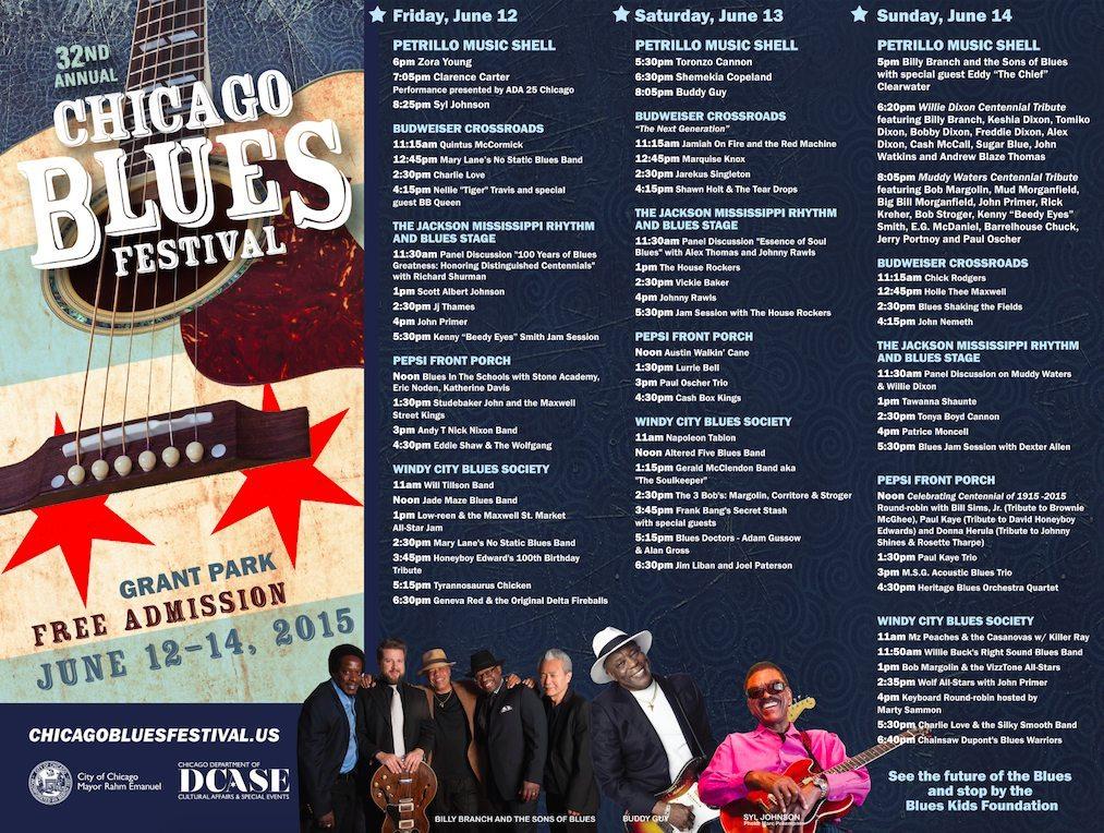 Chicago Blues Fest Schedule