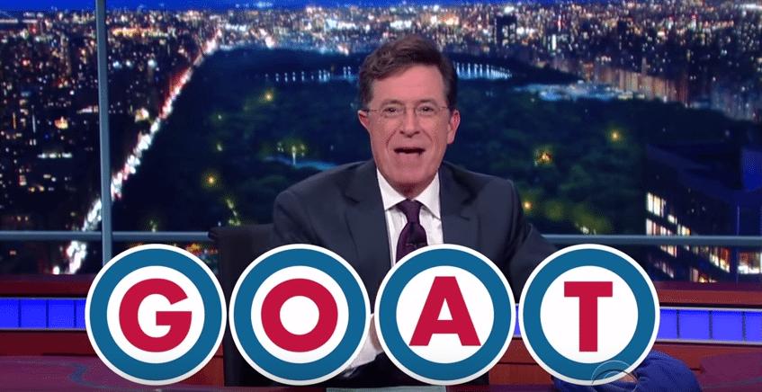 Stephen Colbert Cubs Goat