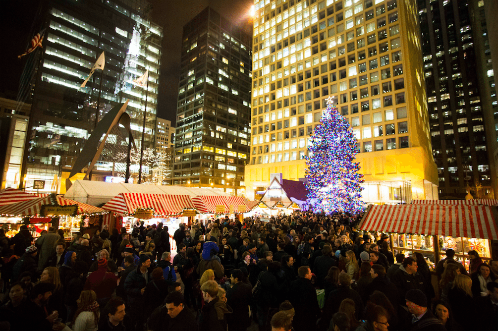 102nd tree lighting ceremony at millennium park