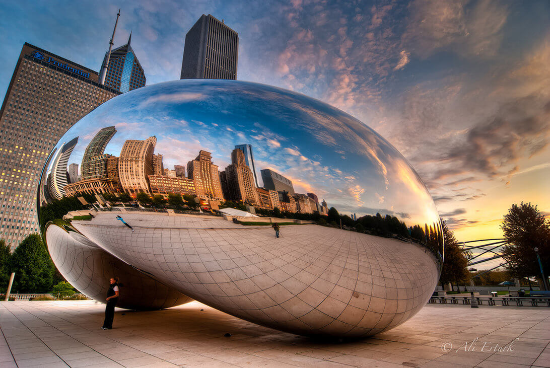millennium park s centerpiece the bean. Black Bedroom Furniture Sets. Home Design Ideas