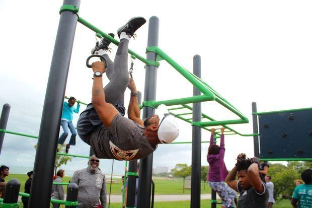 fitness playground burnham park chicago