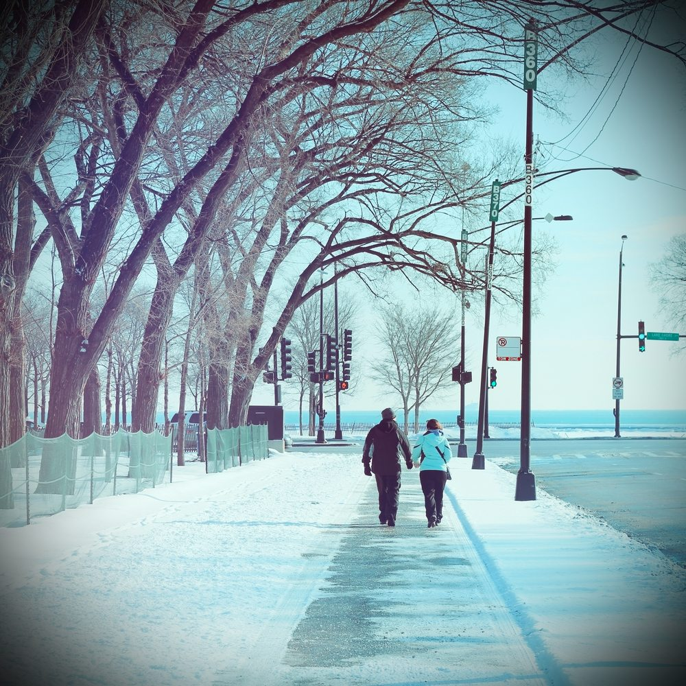 winter travel chicago