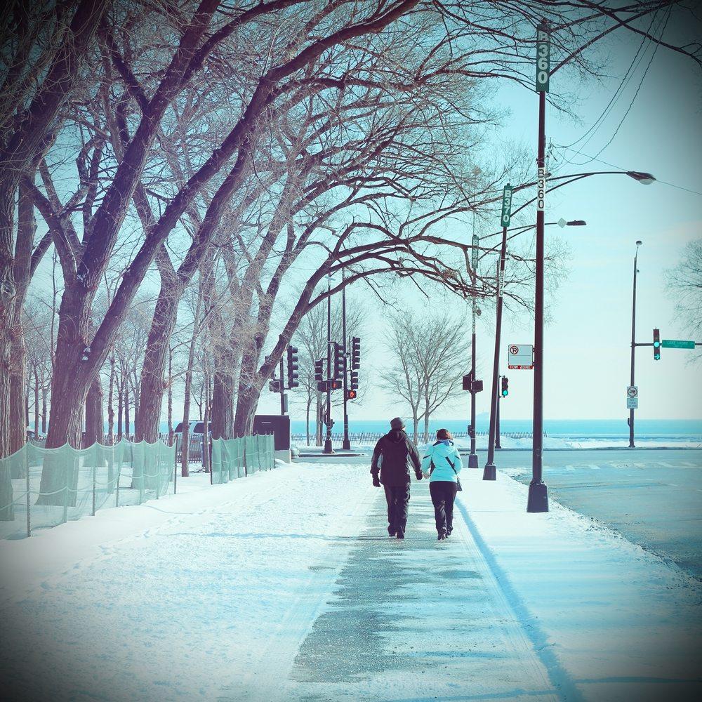 winter travel chicago