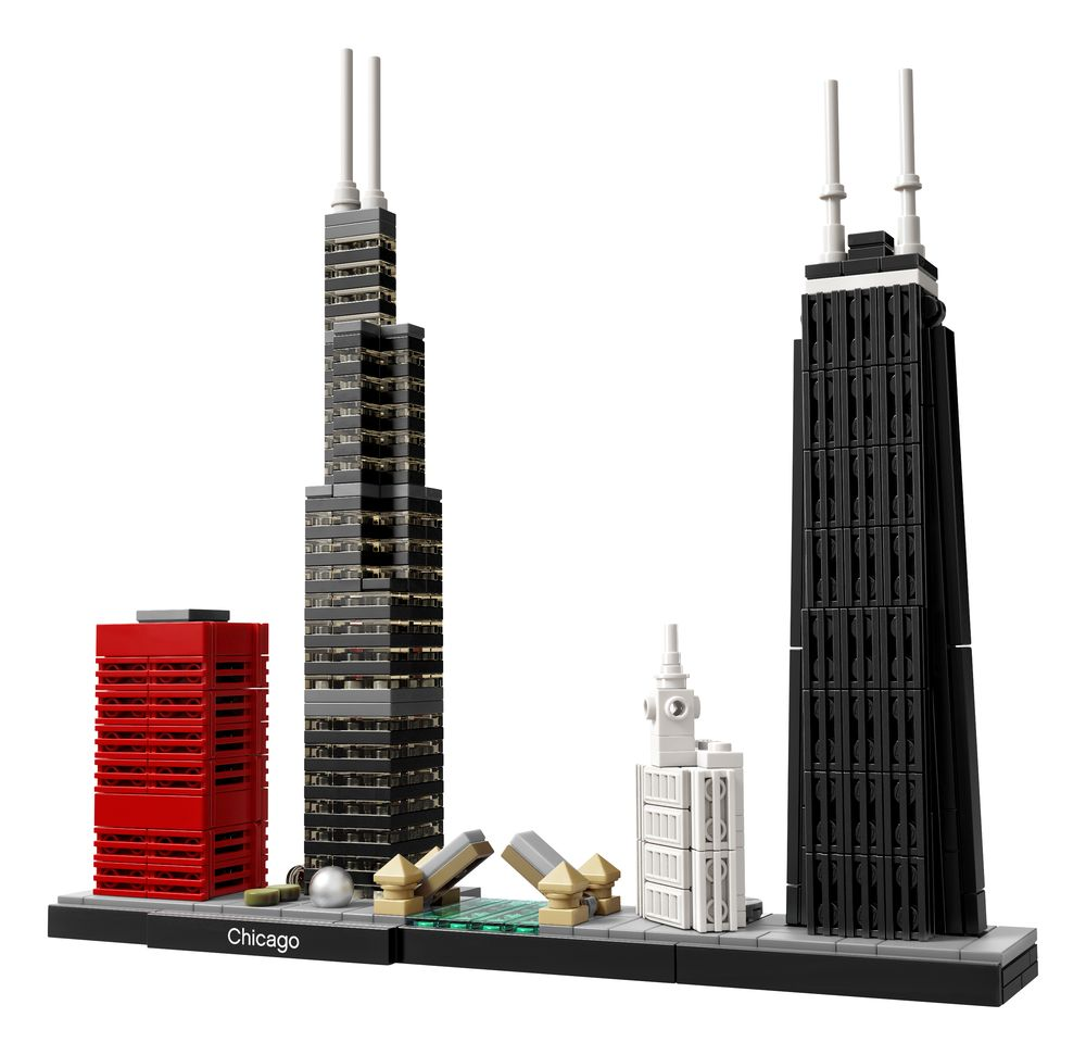 chicago skyline lego