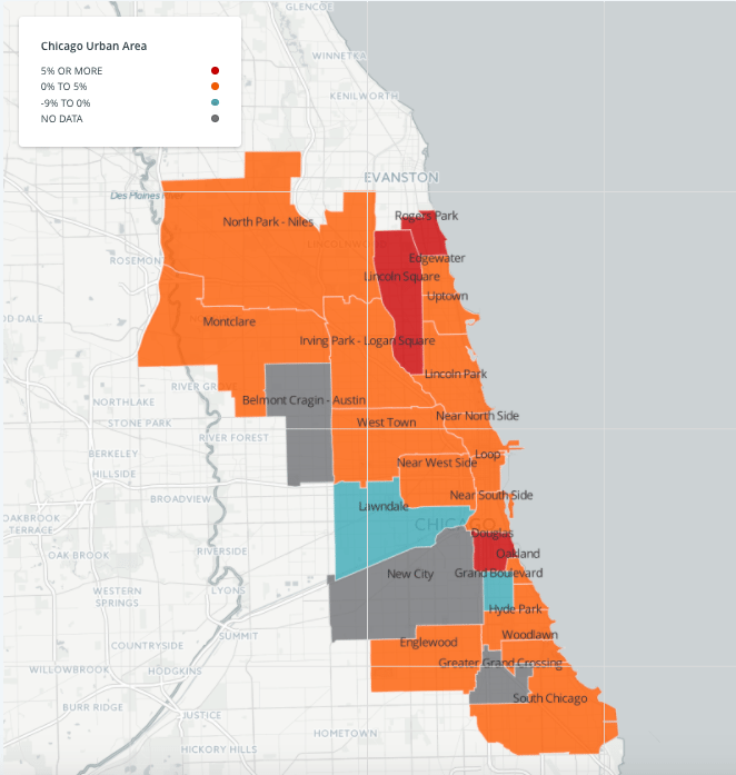 See Which Chicago Neighborhoods Rose and Fell in Rent This Year