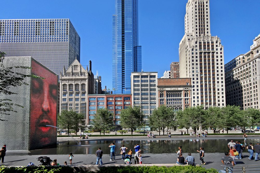 crown fountain reopens