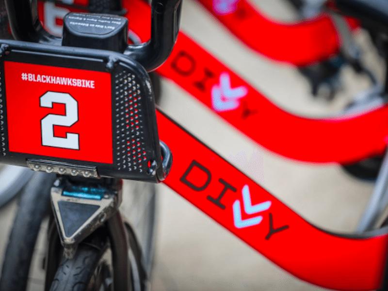 divvy blackhawks bike