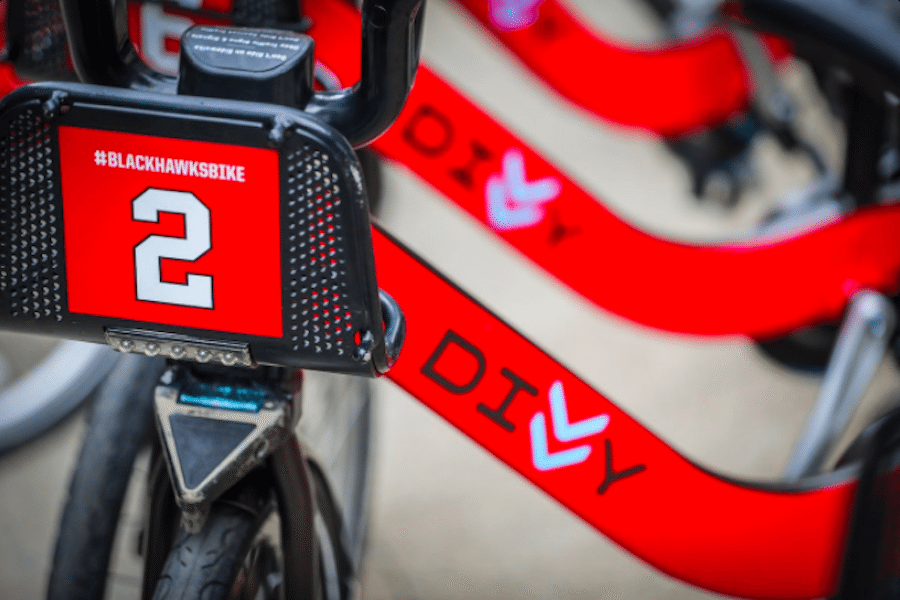divvy blackhawks bike