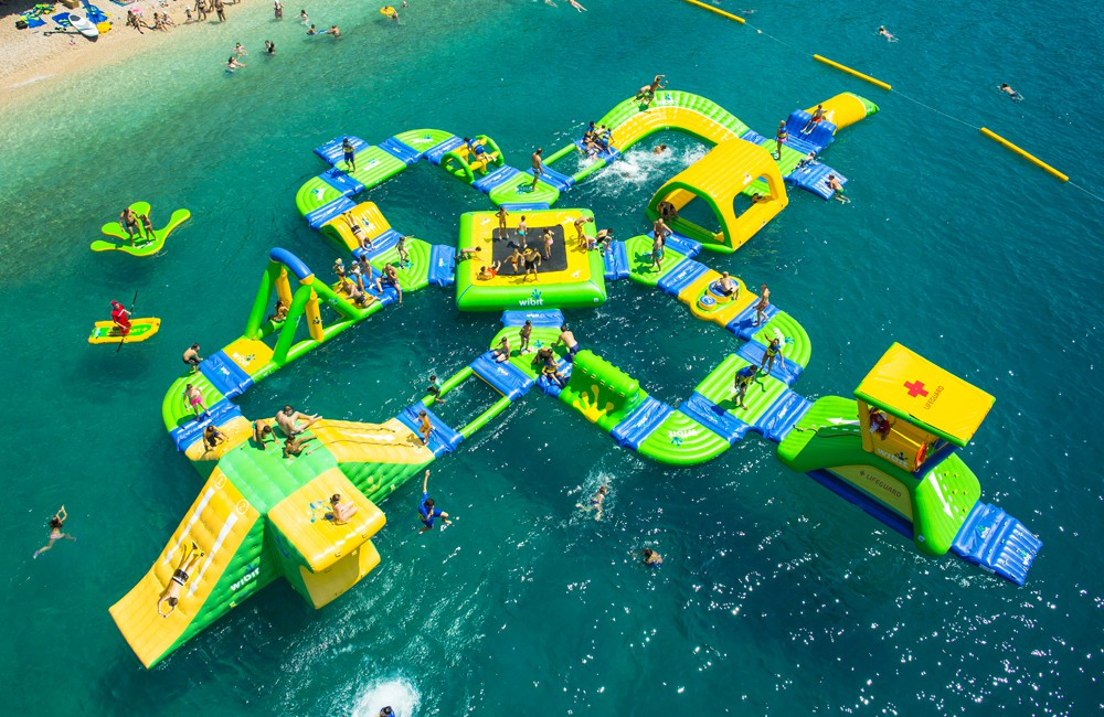 lake michigan floating waterpark