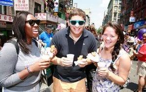 egg rolls, egg creams, and empanadas festival