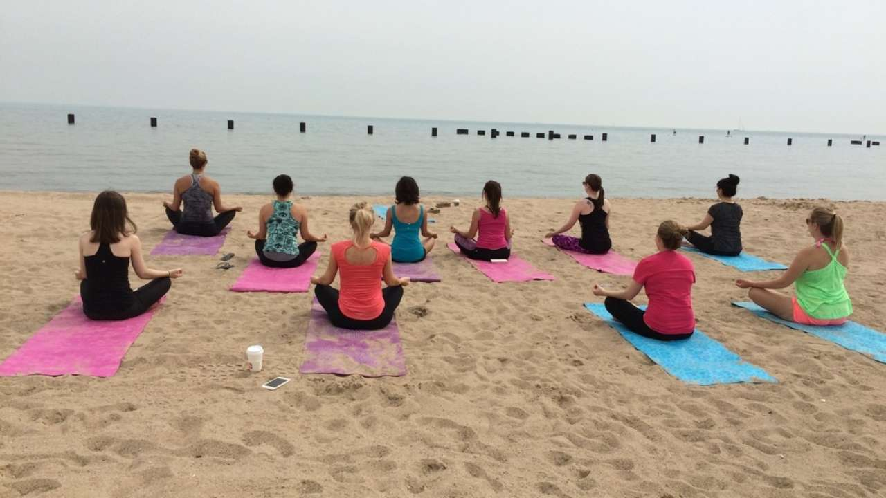 5 Places You Can Find Beach Yoga In Chicago Urbanmatter