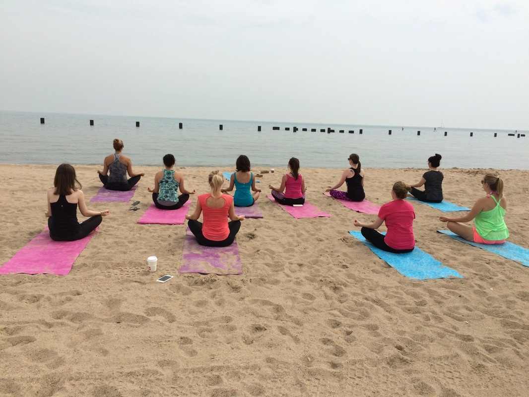 beach yoga chicago