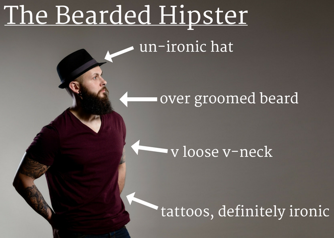 Types of Chicago Guys - Bearded Hipster