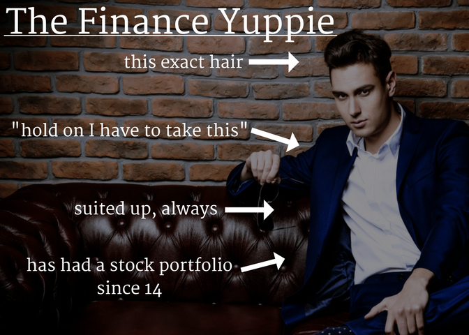 11 guys from chicago - finance yuppie