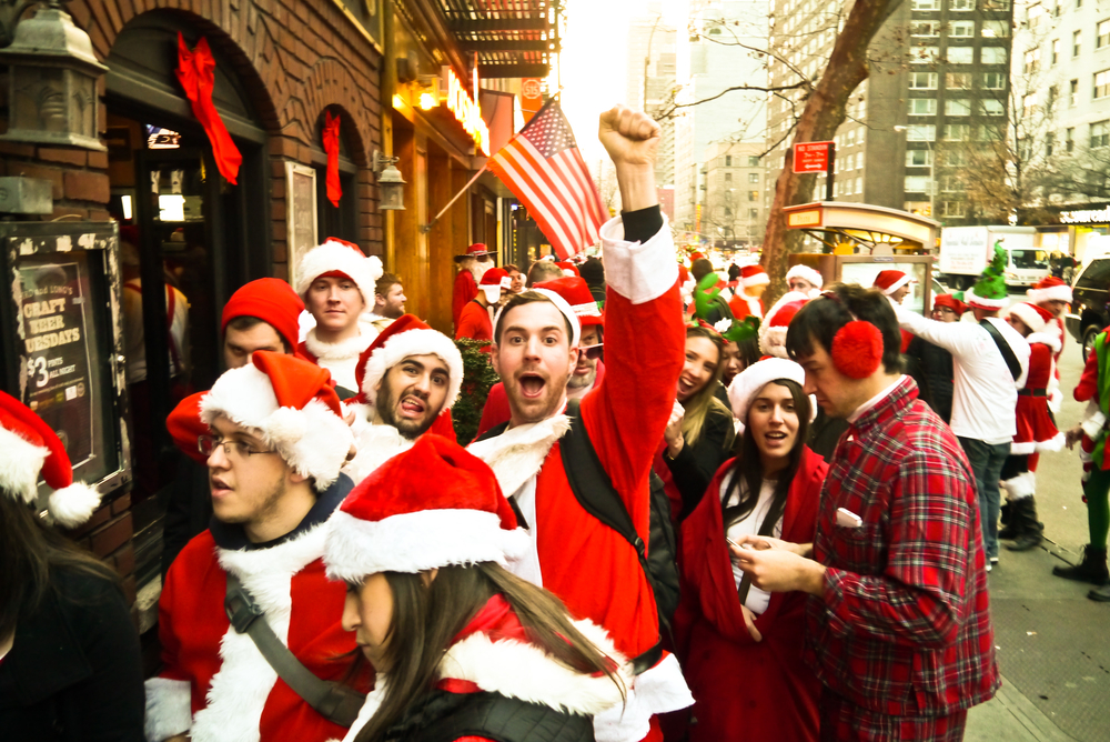 What to do in New York December 2017 - SantaCon