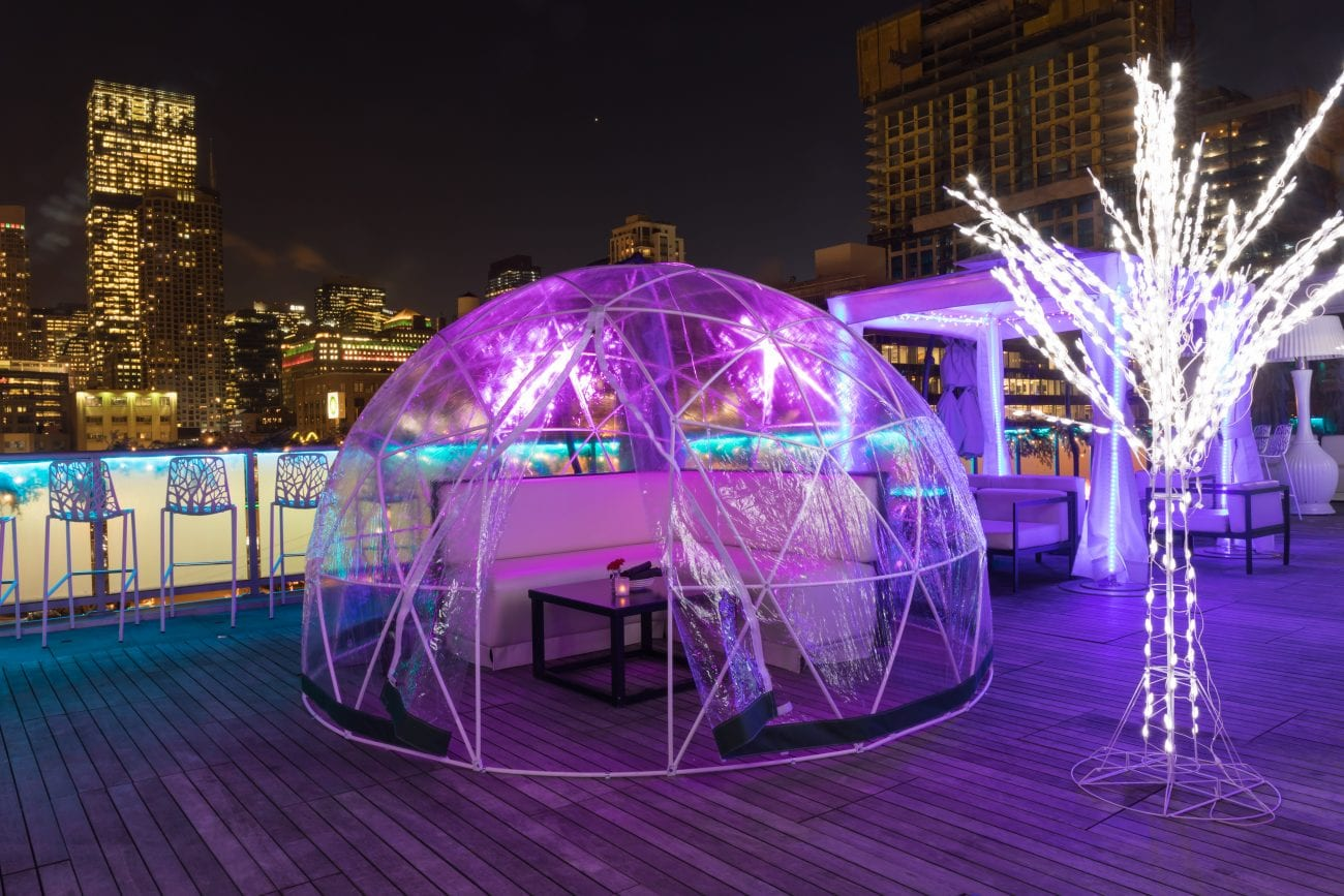 The Godfrey's Rooftop in Chicago Features Igloo Lounges