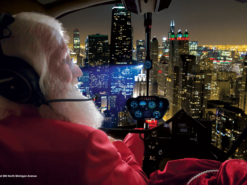 holiday helicopter ride chicago