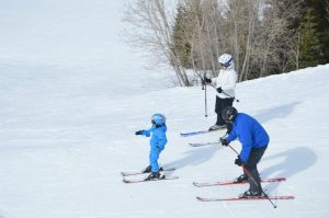 Even the little ones enjoy a day at the slopes with mom 'n dad