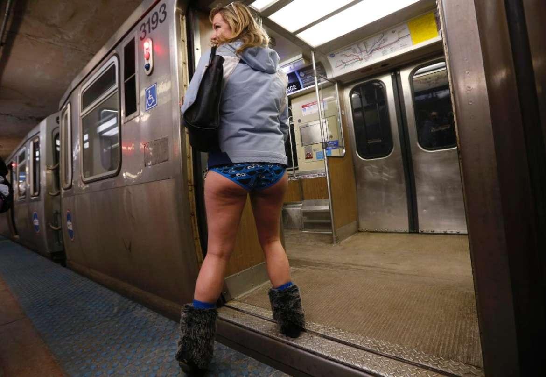 Logan Baxtrum On The Subway Having Fun