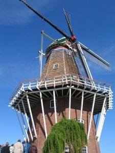 A top Holand, MI attraction is an authentic Dutch windmill.