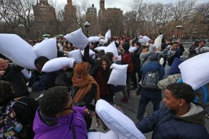 pillow fight day nyc 2018