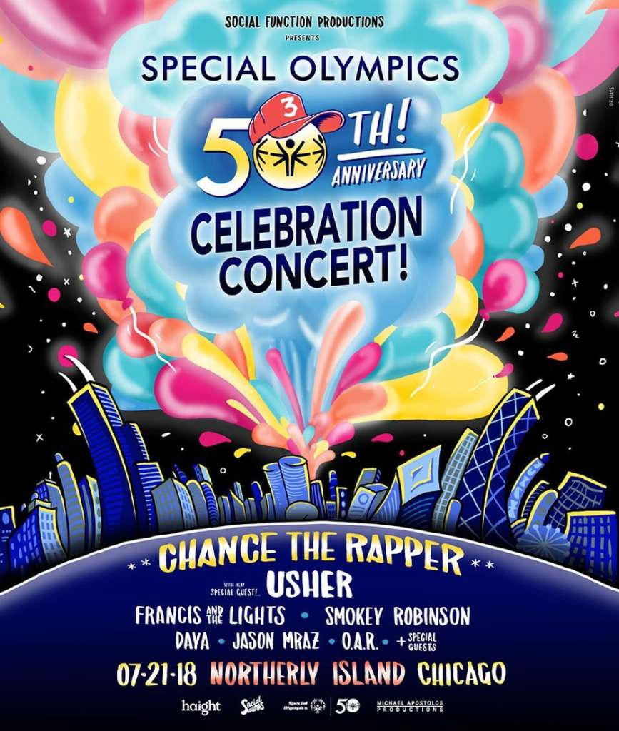 Chance the Rapper Special Olympics 50th Anniversary