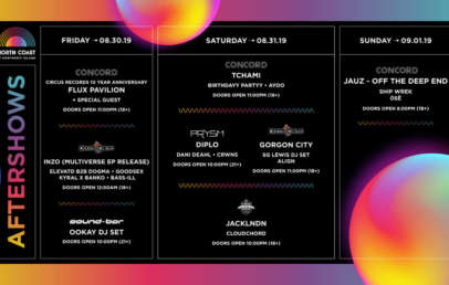 north coast music festival aftershows