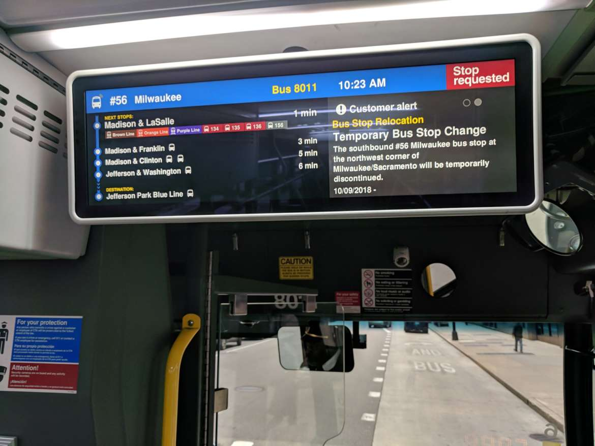 CTA Buses Are Testing Digital Information Screens