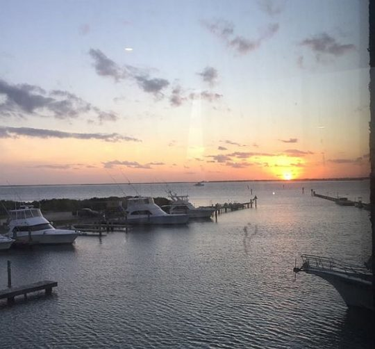 Sunset seen from Sea Ranch restaurant and marina on South Padre Island (Photo Credit: J Jacobs)