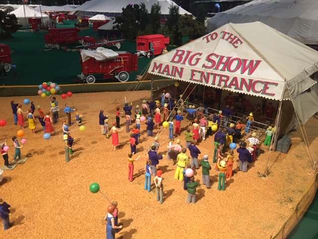 Under the Big Top, Miniature Howard Brothers Circus at Ringling Museum. Photo by Mira Temkin