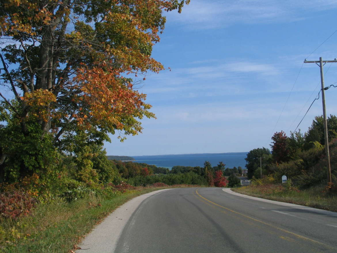 Over every hill is another spectacular view when hiking or driving Old Mission Peninsula in Traverse City.