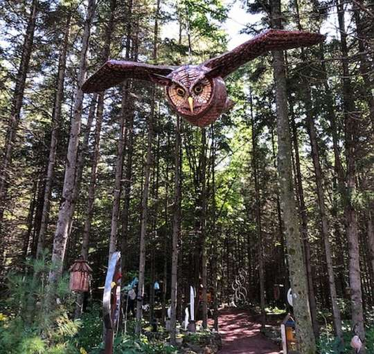Find surprising figures when wandering the sculpture park at Edgewood Orchard Gallery in Fish Creek. (J Jacobs photo)