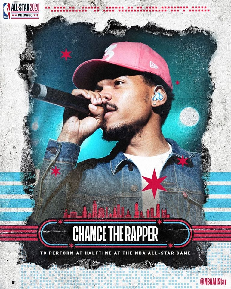 chance the rapper nba all star game