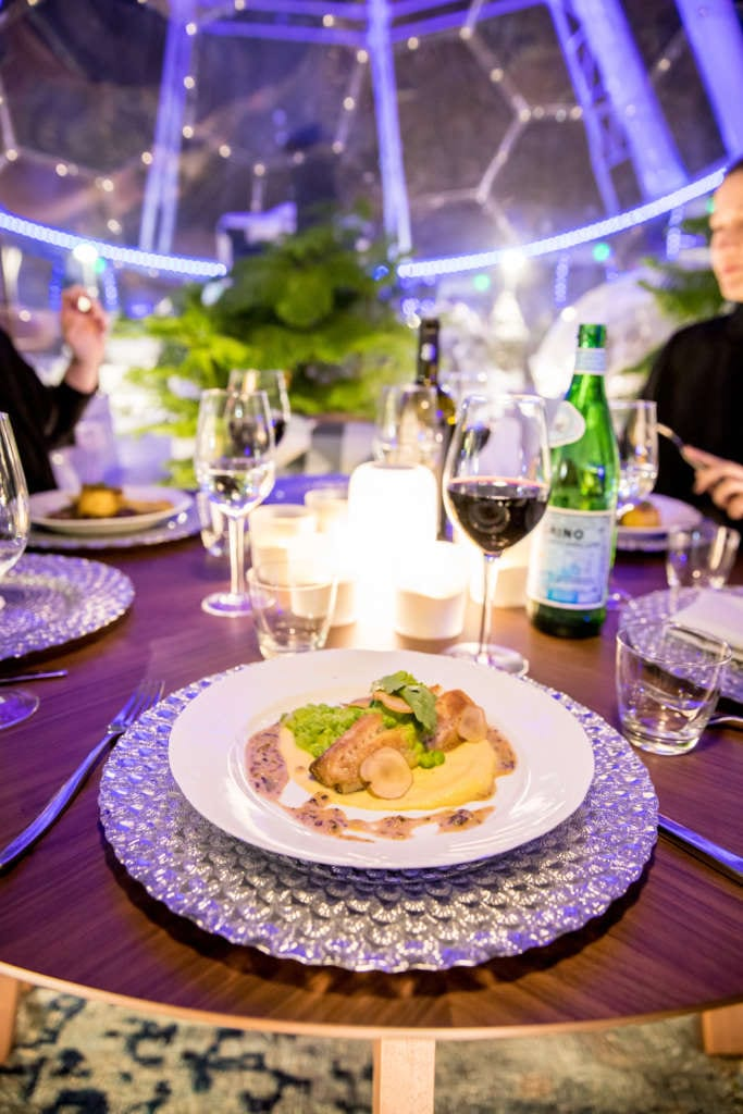 pop-up dome dining