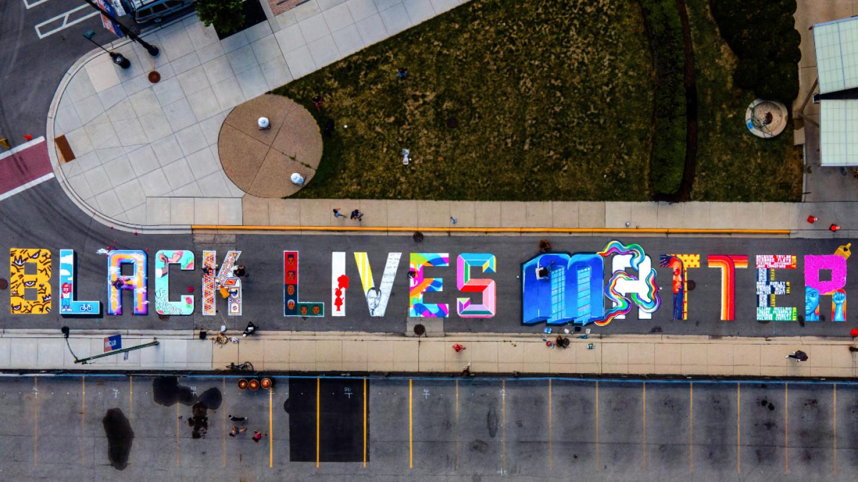 uptown black lives matter mural