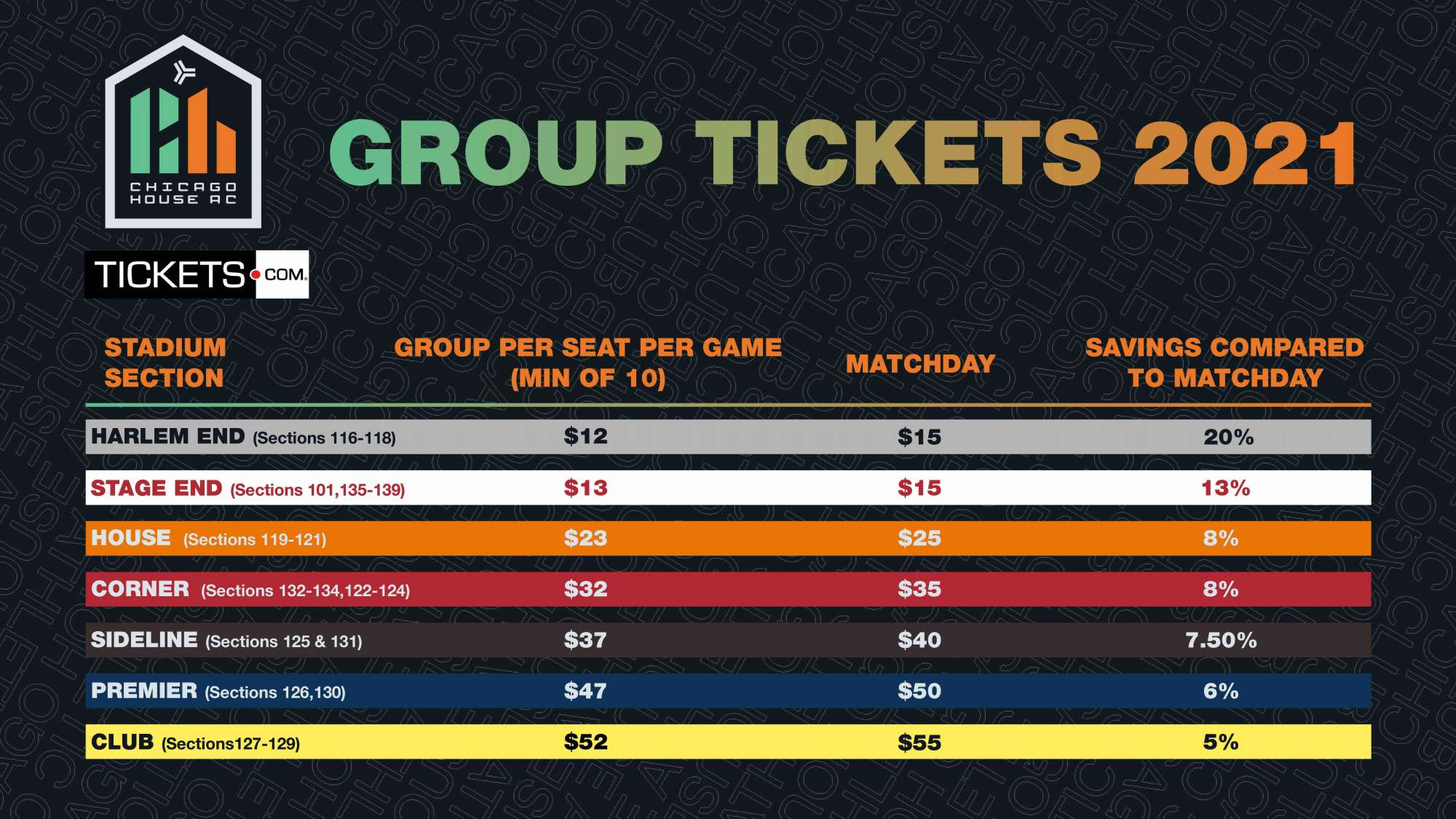 Chicago House AC Group Tickets
