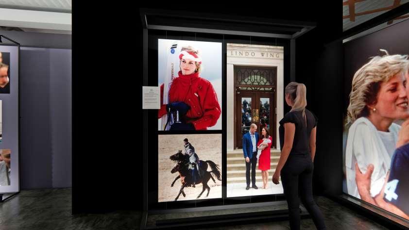 princess diana exhibition render