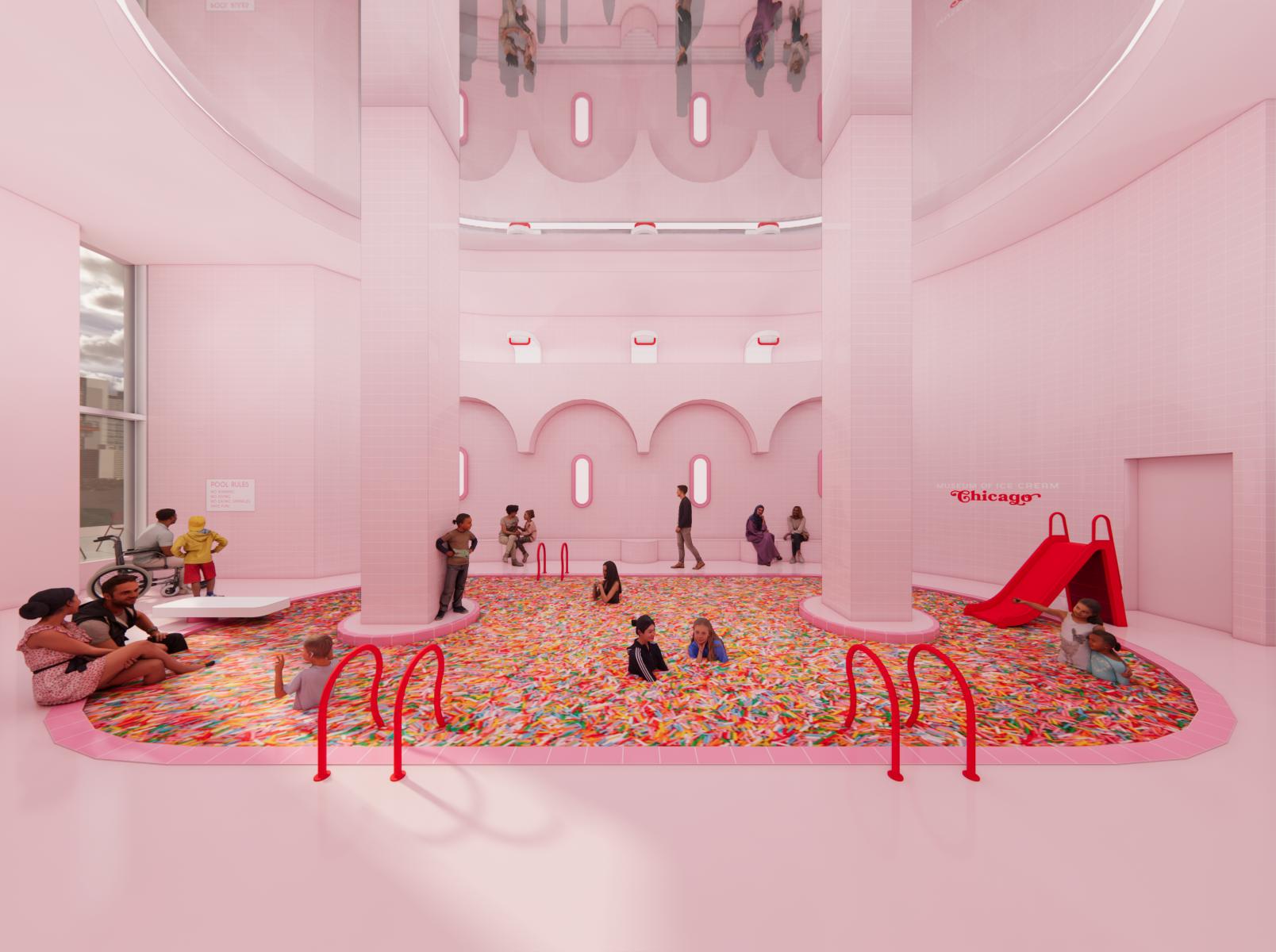 Museum of Ice Cream Chicago render