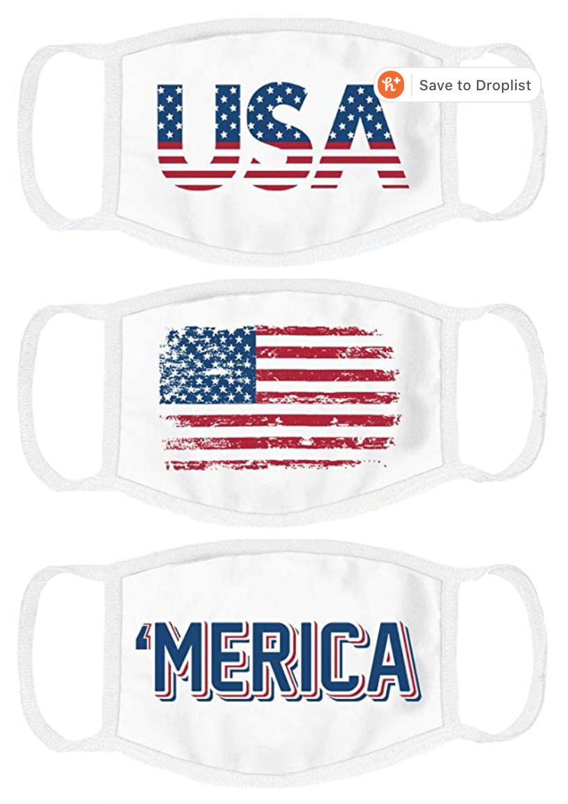 Where to Buy Red, White & Blue American Flag Masks