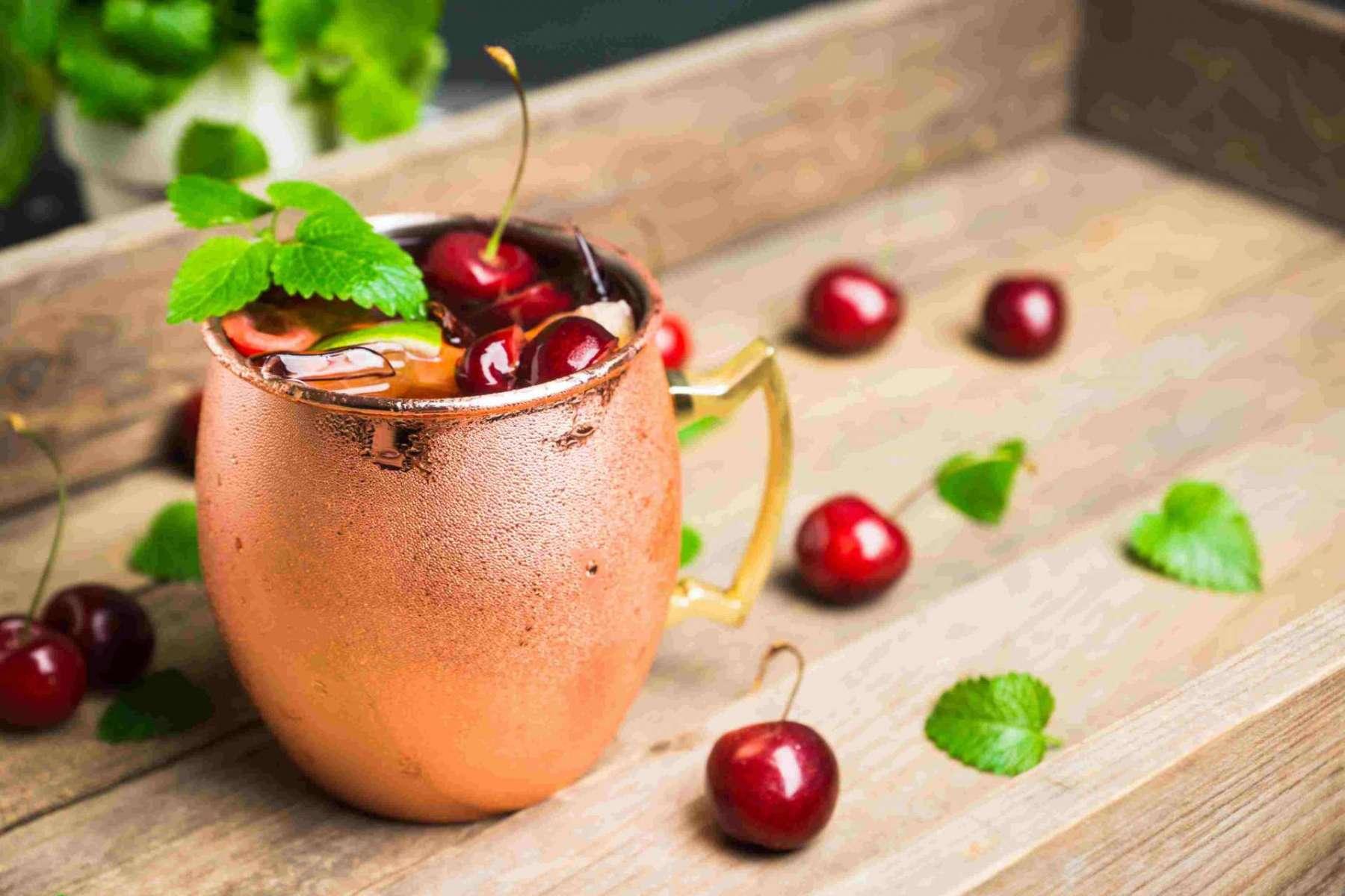 Cherry Mule Drink